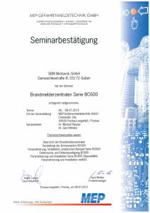 SBM Mrotzeck GmbH Zertifikat - MEP_BMZ Serie BC600